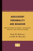 Adolescent Personality and Behavior: MMPI Patterns of Normal, Delinquent, Dropout, and Other Outcomes