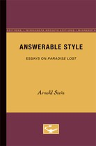 Answerable Style: Essays on Paradise Lost