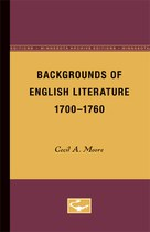 Backgrounds of English Literature, 1700-1760