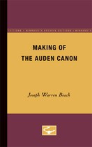 Making of the Auden canon