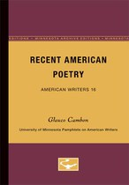 Recent American Poetry - American Writers 16: University of Minnesota Pamphlets on American Writers