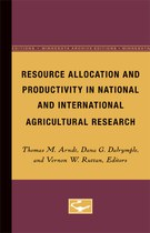 Resource Allocation and Productivity in National and International Agricultural Research