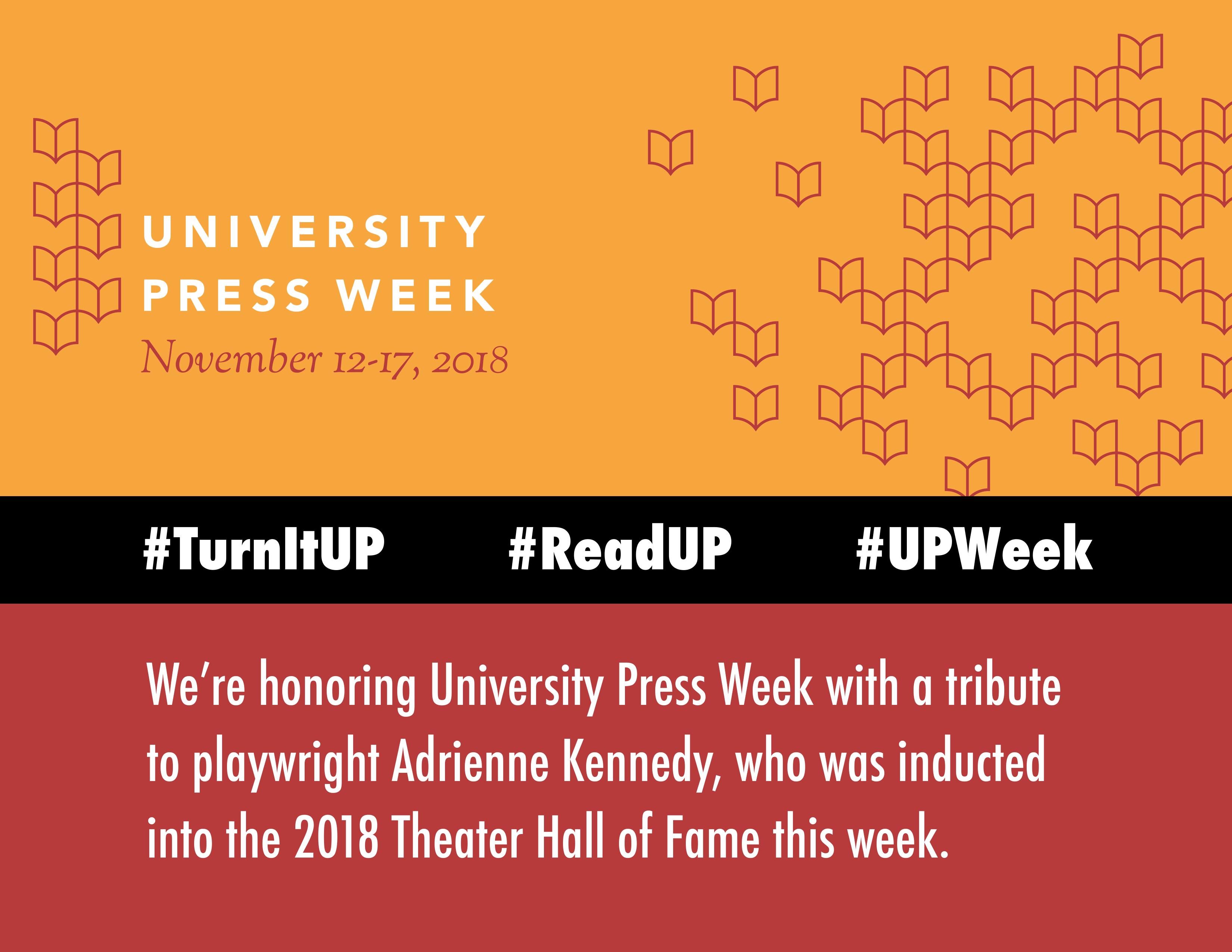 University Press Week 2018: #TurnItUP!