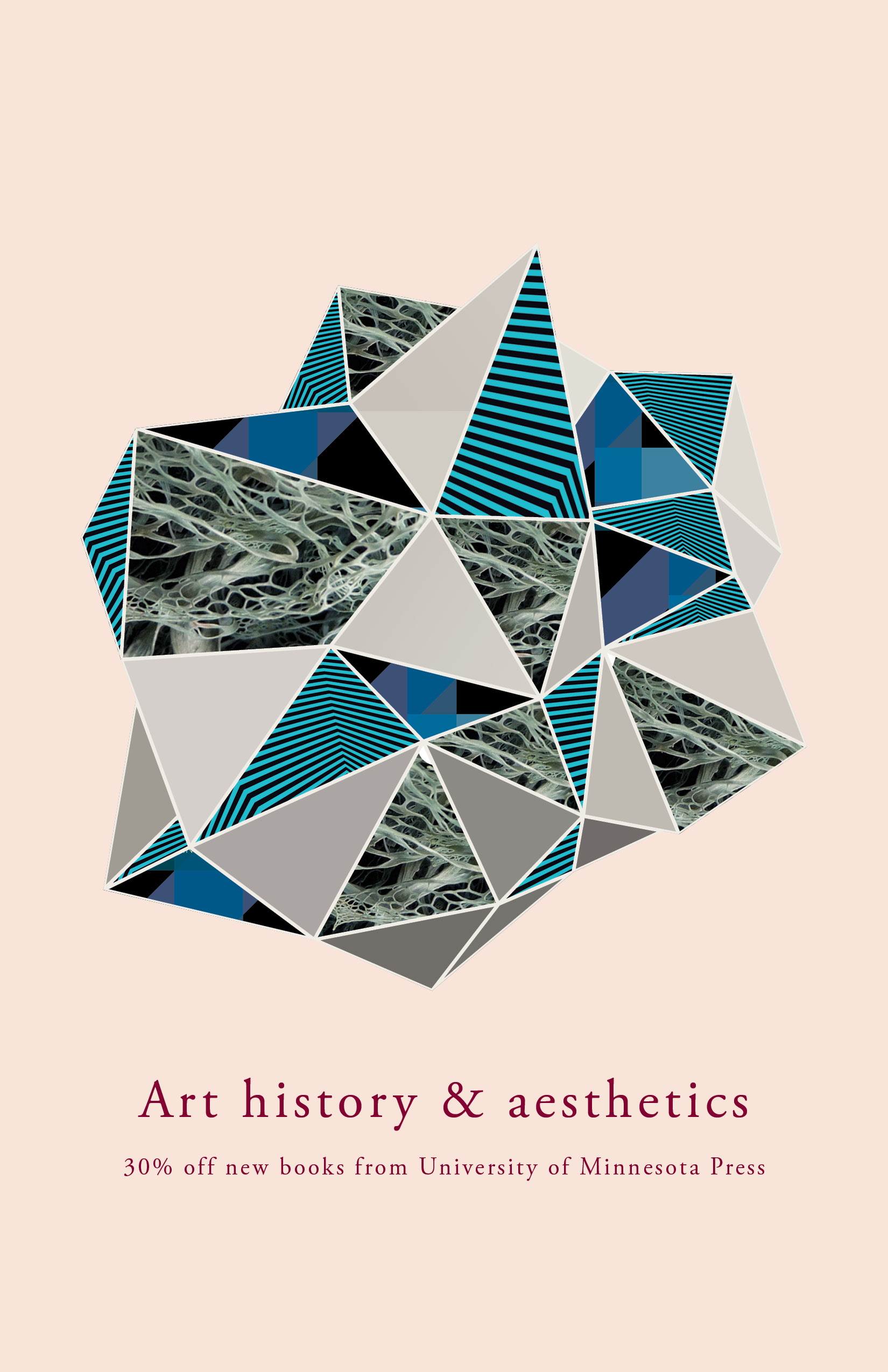 Cover for the University of Minnesota Press Art and Aesthetics catalog.