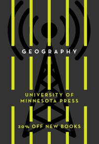 Cover for University of Minnesota Press Geography catalog.